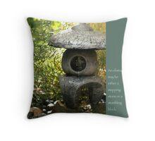 Zen Garden with Quote Throw Pillow
