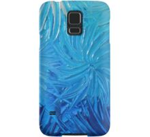 WATER FLOWERS 2 - Stunning Ocean Beach BC Waves Floral Abstract Acrylic Painting Turquoise Blue Samsung Galaxy Case/Skin