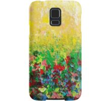 NATURE'S LIVING ROOM - Gorgeous Bright Bold Nature Wildflower Field Landscape Abstract Art  Samsung Galaxy Case/Skin