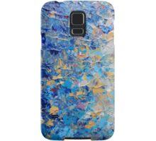HYPNOTIC BLUE SUNSET - Simply Beautiful Royal Blue Navy Turquoise Aqua Sunrise Abstract Nature Decor Samsung Galaxy Case/Skin