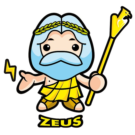 Of sky and thunder god Zeus by Boians