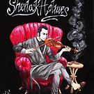 Sherlock Holmes playing Violin by JUNK0