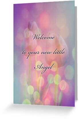 Welcome New Baby Greeting Card by MotherNature