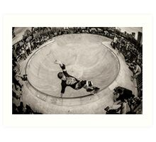 Christian Hosoi - Layback Smith Grind - New York - Photo Aaron Smith Art Print