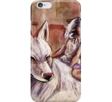 Mononoke and the Wolf Digital Painting iPhone Case/Skin