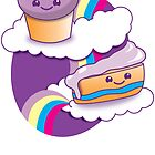 Super cute Yummy yummy Rainbow cakes by jazzydevil