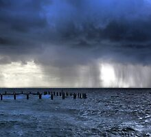 Rain Storm Over the Ocean by Jill Fisher