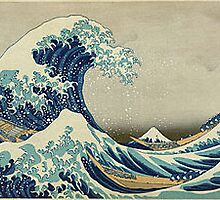 The Great Wave ~ Katsushika Hokusai by zEpicz