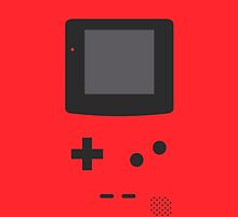 Gameboy Iphone Case Red by triforce15