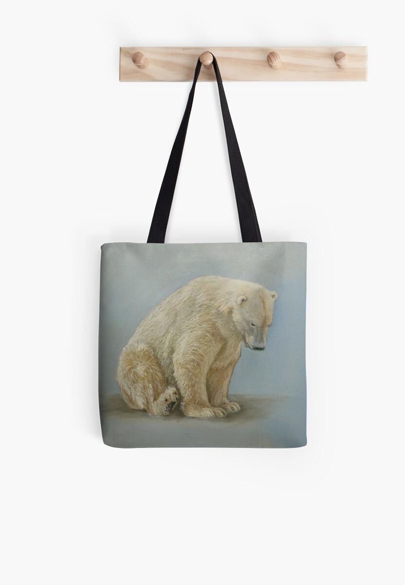 Polar bear sitting by Carole Russell