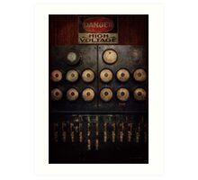 Steampunk - Electrical - Center of power Art Print