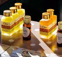 Beauty Oils At Bridport Market by Susie Peek