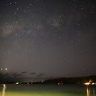 Stars in night sky, Vanuatu, South Pacific Ocean by Sharpeyeimages