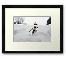Ski Ninja Framed Print
