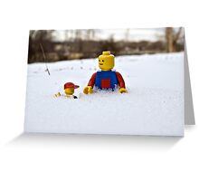 Father/Son Snowy Hike Greeting Card