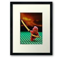 The Red Ninja Framed Print