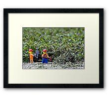 Yard Work Framed Print