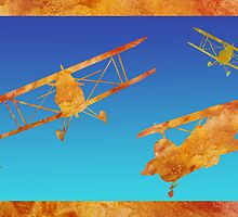 Biplanes  by PaintboxCollage