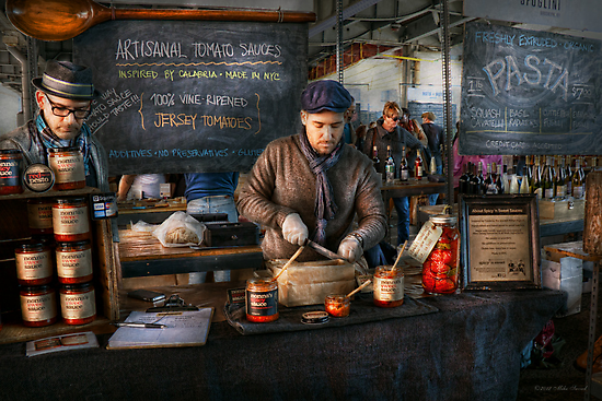 Bazaar - We sell tomato sauce  by Mike  Savad