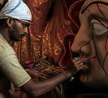 The Artist at Work-3 by Mukesh Srivastava