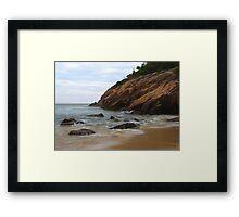 Rocks on the Shore Framed Print