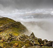 Crinkle Crags in the Clouds by David Lewins