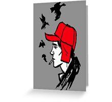 Red Hunting Cap Greeting Card
