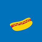 A single hot dog with mustard YUM! by jazzydevil