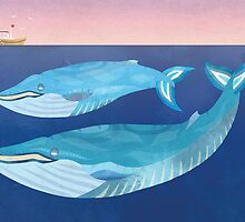 Blue Whales by tiasakura