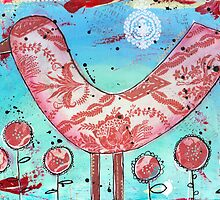 Red Bird - Mixed Media by Pip Gerard