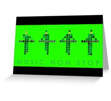 KRAFTWERK NEON |  Music Non Stop Greeting Card
