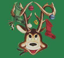 Reindeer Antlers and Christmas Stockings Greeting Cards by taiche