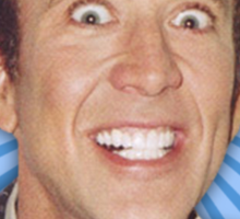 Nicolas Cage - HELLO w/Banner Sticker