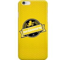 Runs with Scissors - Yellow iPhone Case/Skin