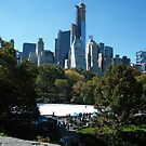 View of Central Park South Skyline,Wollman Rink, One57 Skyscraper, New York City by lenspiro