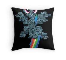 I am a brony because... Throw Pillow
