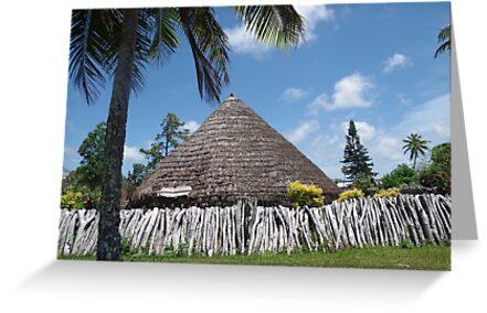 Lifou - Big Chief's hut by Vanessa Pike-Russell
