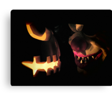 Sinister Grins Canvas Print