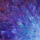 SCALES OF A DIFFERENT COLOR - Abstract Acrylic Painting Eggplant Sea Scales Ocean Waves Colorful by EbiEmporium