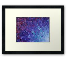 SCALES OF A DIFFERENT COLOR - Abstract Acrylic Painting Eggplant Sea Scales Ocean Waves Colorful Framed Print