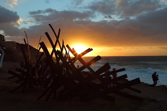 Sculptures By The Sea Sunrise by Ann Marie  Barnes
