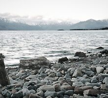 A rock to contemplate - New Zealand by Norman Repacholi