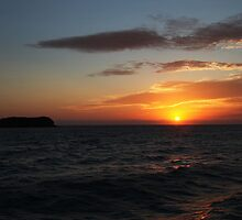 Cook island Sunrise by Ron Finkel