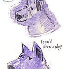 I can't draw a dog head by aceshirt