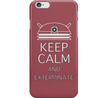 Keep calm and exterminate cherry iPhone Case/Skin