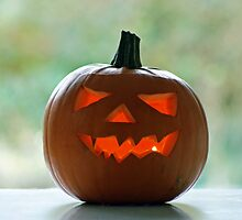 mr scary pumpkin in the morning... by Gregoria  Gregoriou Crowe
