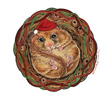 Holiday Dormouse ~ Season's Greetings! by Tamara Clark