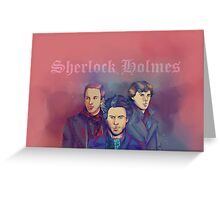 3 Sherlock Greeting Card