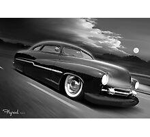 Moonrise Over Mercury Photographic Print