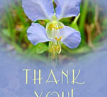 Thank You Greeting Card - Asian Day Flower by MotherNature